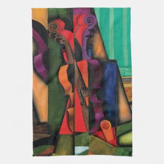 Violon et guitare par Juan Gris Serviette Éponge