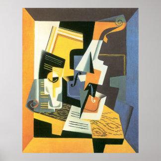Violon et verre par Juan Gris, cubisme vintage Posters