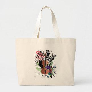 Violon grunge Illustration2 Grand Tote Bag