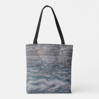 Violon original de peinture de sac fourre-tout et