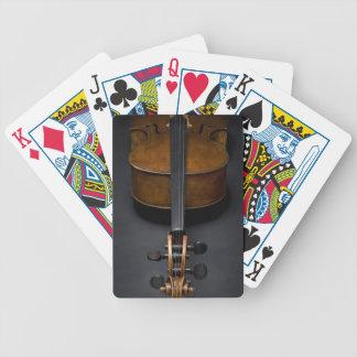 Violoncelle antique jeux de cartes