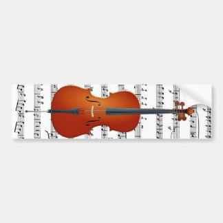 Violoncelle et Me_ Adhésif Pour Voiture
