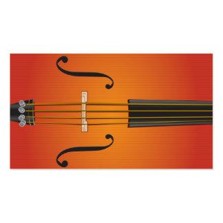 Violoncelle, violon, conception de carte de visite