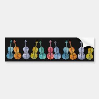 Violoncelles multicolores adhésifs pour voiture