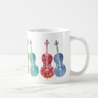 Violoncelles multicolores mug
