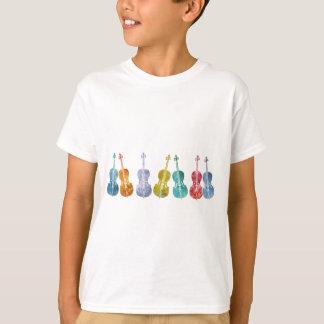 Violoncelles multicolores t-shirt
