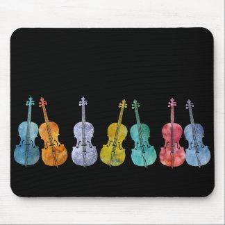 Violoncelles multicolores tapis de souris
