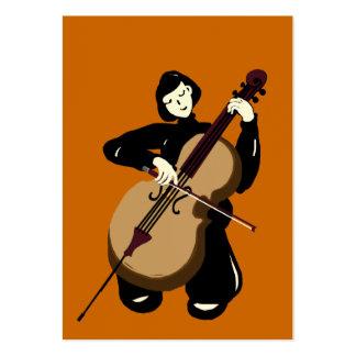 violoncelliste jouant le violoncelle carte de visite grand format