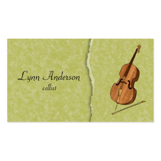 Violoncelliste, quartet de ficelle, ou orchestre carte de visite standard