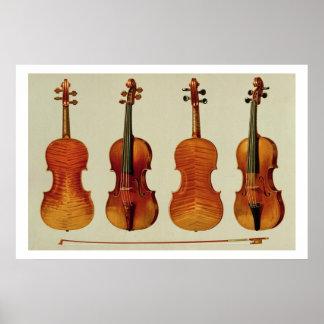 "Violons (LtoR) : le ""Alard"" par Antonio Stradivari Posters"