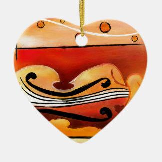 Vioselinna - beauté soutenue par violon ornement cœur en céramique