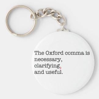 Virgule de Pro-Oxford Porte-clé Rond