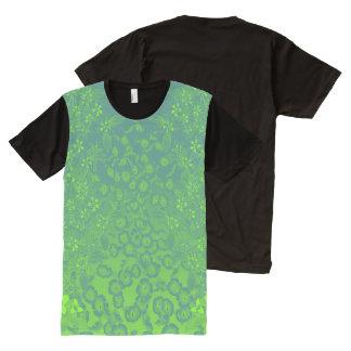 Viridian et floral vert Chartreuse par Aleta T-shirt Tout Imprimé