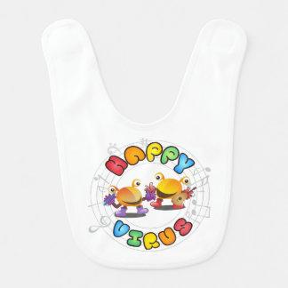 Virus heureux - bavoir de bébé