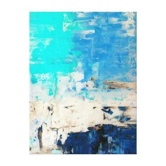 """""""Vis-à-vis"""" de l'art abstrait de turquoise Toiles"""