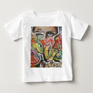 visage abstrait de type de texte d'art de graffiti t-shirt pour bébé
