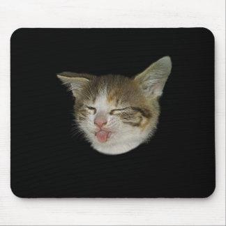 Visage amusant de chaton mignon qui grimace tapis de souris