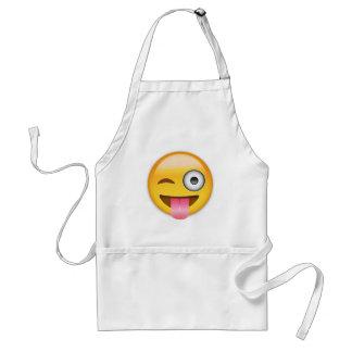 Visage avec coincés la langue et l'oeil Emoji de Tablier