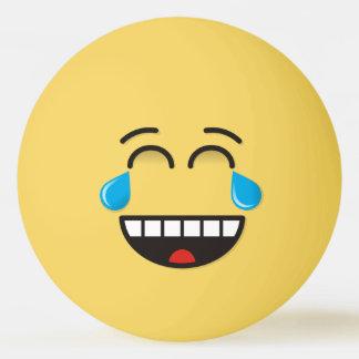 Visage avec des larmes de joie balle tennis de table