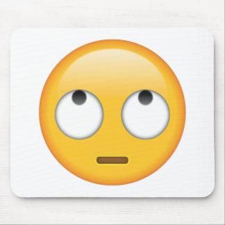 Visage avec des yeux de roulement - Emoji Tapis De Souris