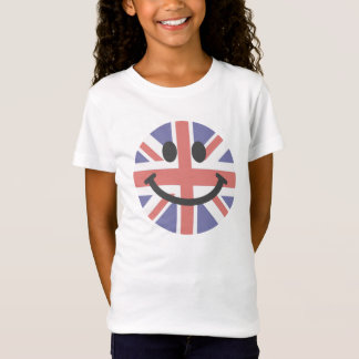 Visage britannique de smiley de drapeau T-Shirt