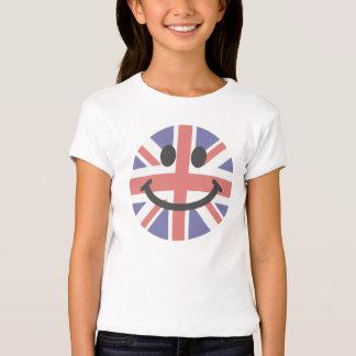 Visage britannique de smiley de drapeau t-shirts