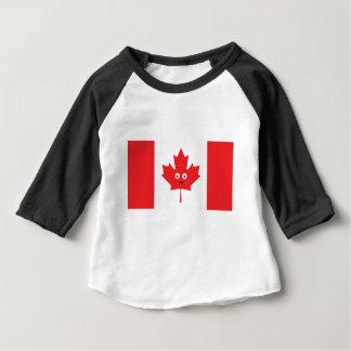 Visage canadien de feuille d'érable t-shirt pour bébé
