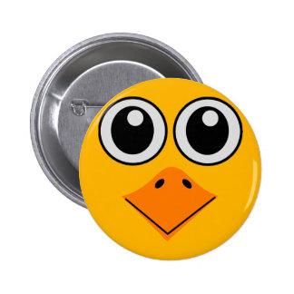 visage coloré de luxe d'oiseau badge