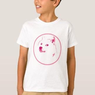 Visage coloré et minimal de doge t-shirt