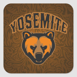 Visage d ours de Yosemite Sticker Carré
