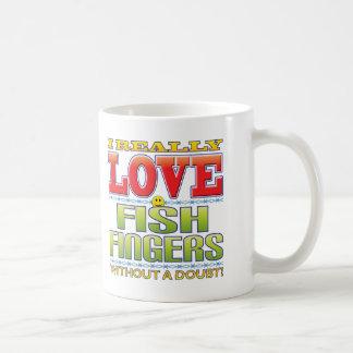 Visage d'amour de bâtons de poisson mug