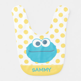 Visage | de bébé de monstre de biscuit le grand bavoir pour bébé