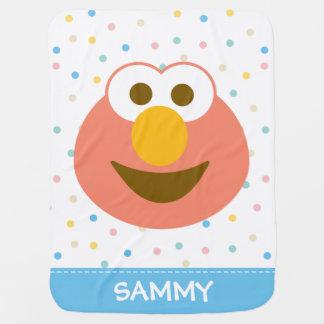 Visage   de bébé d'Elmo le grand ajoutent votre Couverture Pour Bébé