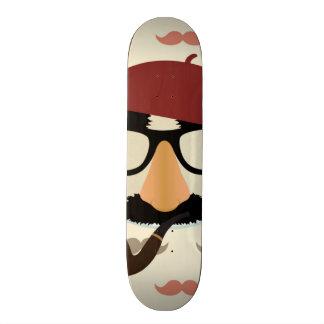 Visage de béret de tuyau en verre de déguisement d skateboards personnalisés
