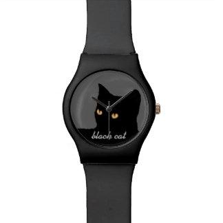 visage de chat noir montres
