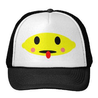 Visage de citron casquettes de camionneur
