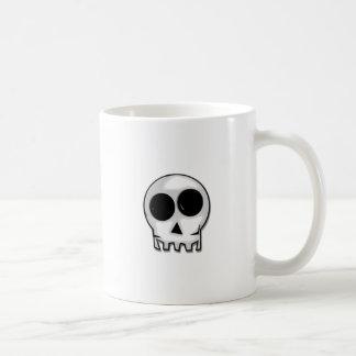 Visage de crâne de bande dessinée mug