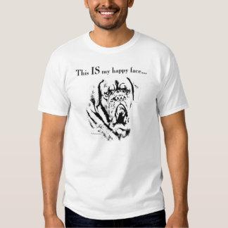 Visage de Dogue de Bordeaux Happy T-shirt