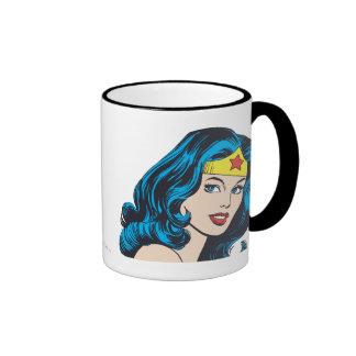 Visage de femme de merveille mug ringer