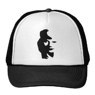 Visage de joueur de saxo beau drôle casquette trucker
