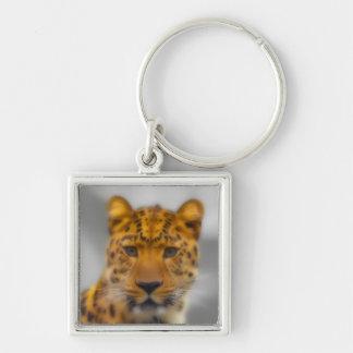 Visage de léopard porte-clefs
