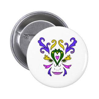 Visage de mardi gras badge
