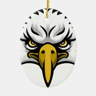 Visage de mascotte d'Eagle Ornement Ovale En Céramique