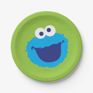 Visage de monstre de biscuit assiettes en papier
