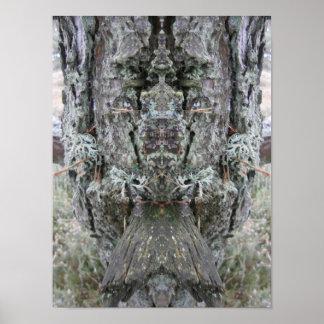 """Visage de nature """"reine affiche d'arbres"""" poster"""