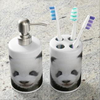 Visage de panda porte brosse à dents