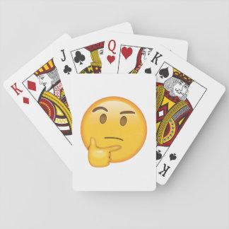 Visage de pensée - Emoji Cartes À Jouer