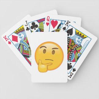 Visage de pensée - Emoji Jeu De Cartes
