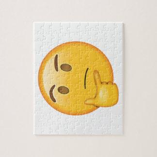 Visage de pensée - Emoji Puzzle