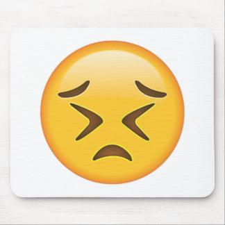 Visage de persévérer - Emoji Tapis De Souris